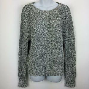 Free People Medium Black White Pullover Sweater